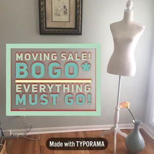 BOGO EVERYTHING!* MOVING SALE! BUNDLE, BABY!!